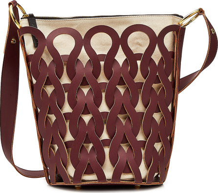 Marni Tricot Fabric Bag with Leather