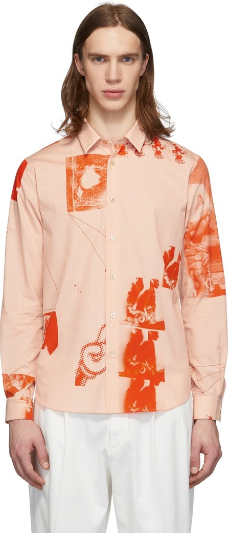 Paul Smith Pink Abstract Collage Shirt