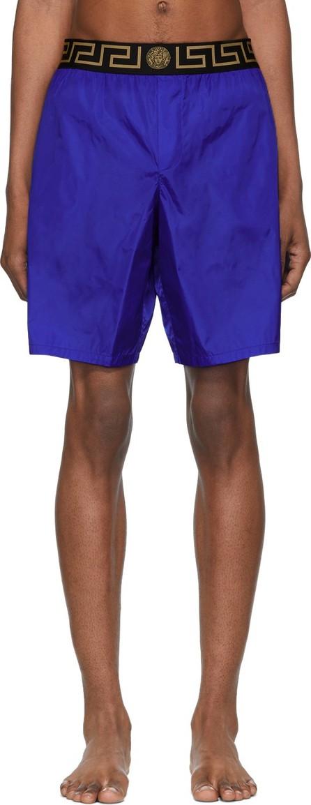 Versace Blue Greca Border Swim Shorts