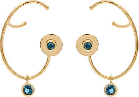 Ana Khouri Lily topaz & 18kt gold earrings