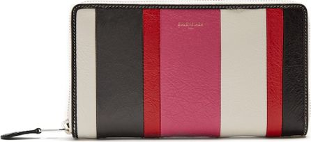 Balenciaga Bazar zip-around leather continental wallet
