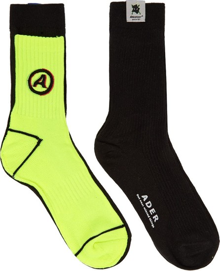 ADER error Black & Yellow Different Tissue Socks
