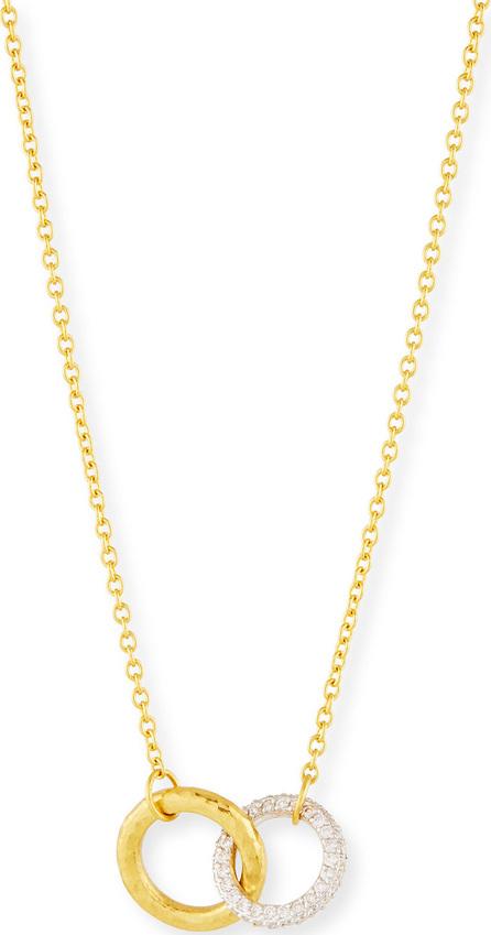 GURHAN Hoopla Interlocking Pendant Necklace w/ Diamonds