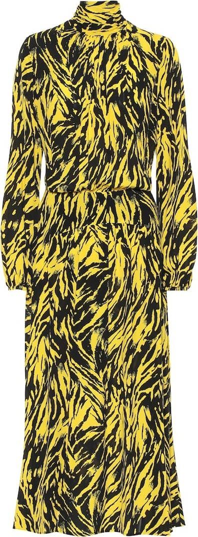 N°21 Printed crêpe midi dress