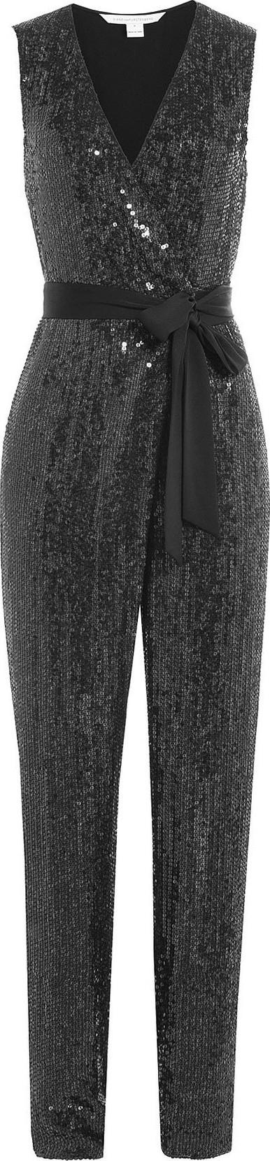 DIANE von FURSTENBERG Sequined Silk Jumpsuit