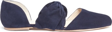 Gabriela Hearst 'Minerva' bow band suede d'Orsay flats