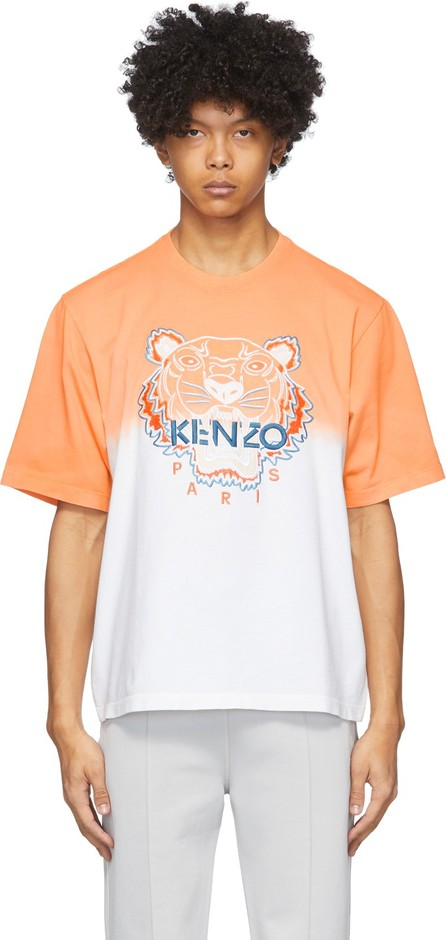 KENZO Orange & White Tiger Gradient T-Shirt