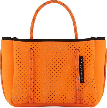 State of Escape Perforated Neoprene Small Crossbody Bag, Bright Orange