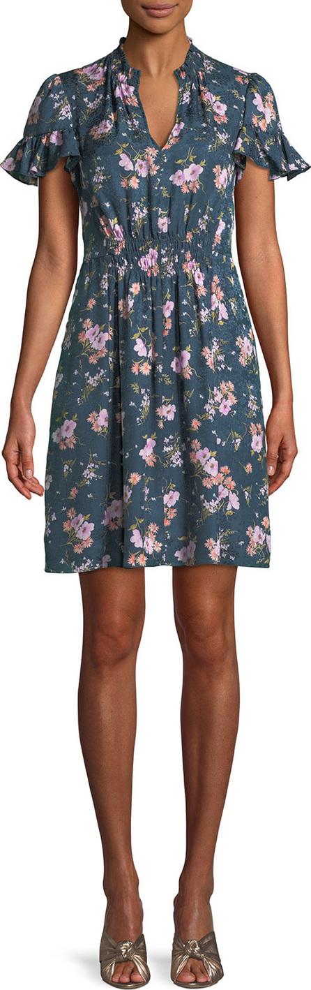Rebecca Taylor Emilia Floral-Print Silk Mini Dress