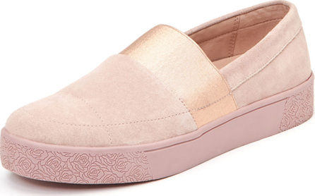 Taryn Rose Greta Suede Platform Loafers