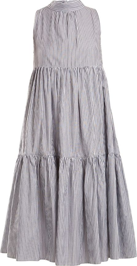 Asceno Neck-tie striped cotton dress