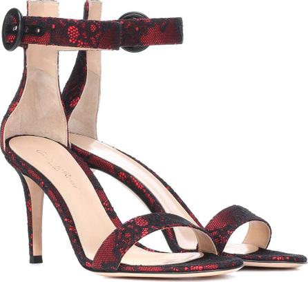Gianvito Rossi Portofino 85 lace and satin sandals