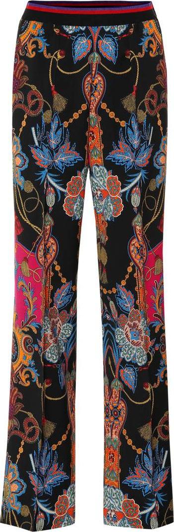 Etro Paisley wool crêpe wide-leg pants