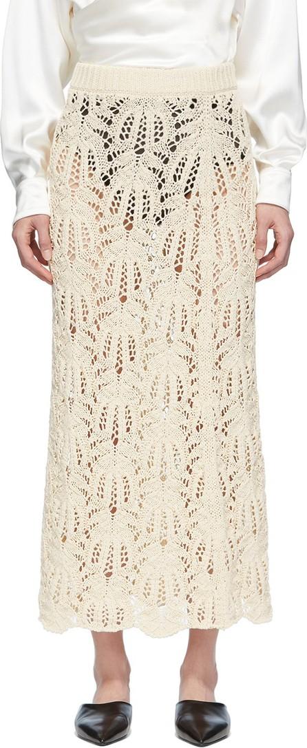 Jil Sander Off-White Knit Lace Long Skirt
