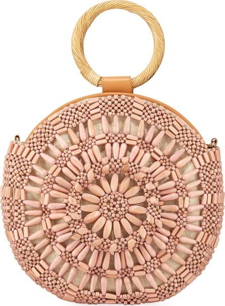 Aranaz Shell Sunburst Round Top-Handle Bag  Pink