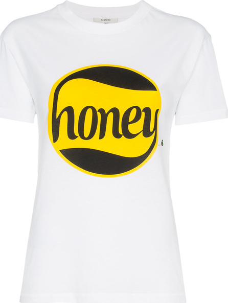Ganni Honey print cotton t shirt