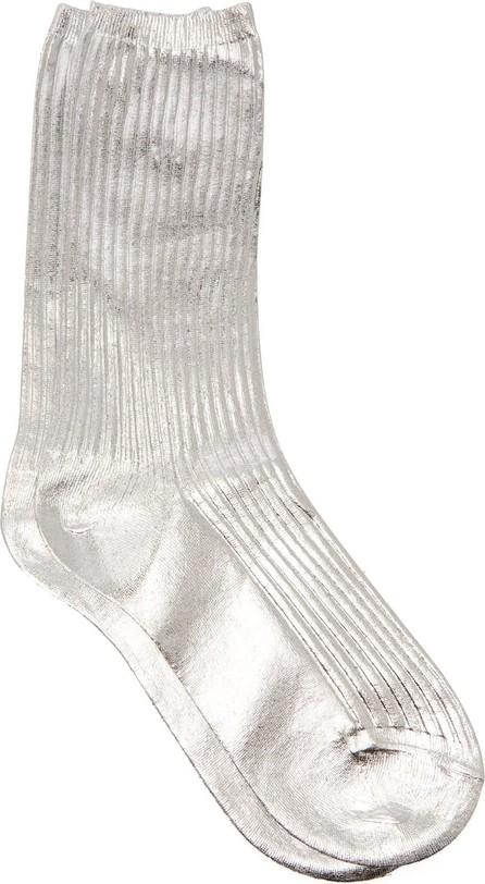 Acne Studios Metallic ribbed socks