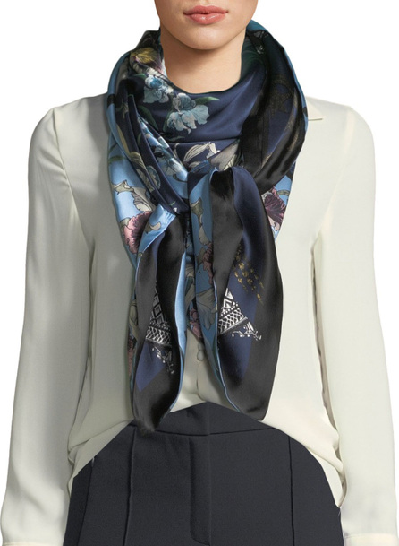 St. Piece Ingrid/Imogen Double-Sided Floral Silk Scarf
