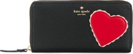 Kate Spade New York Heart patch zip around continental wallet