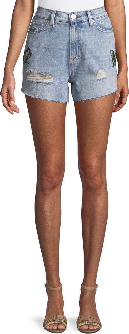 Hudson The Staple Embroidered Cutoff Denim Shorts
