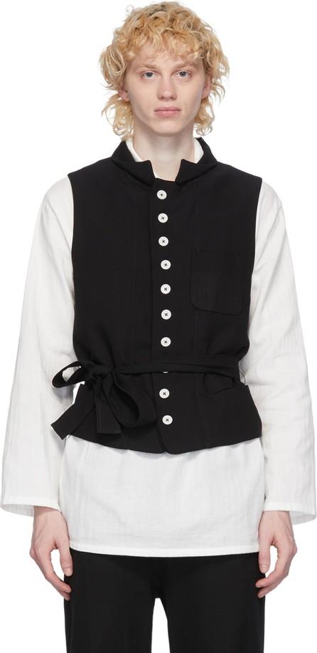 Ann Demeulemeester Black Lightlaine Waistcoat Vest