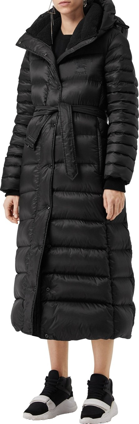 Burberry London England Finsbridge Check Lined Short Quilted Coat W