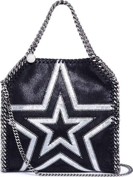 Stella McCartney 'Falabella' mini cutout star patch shaggy deer chain tote