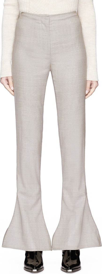 Acne Studios 'Toni Fluid' reverse staggered cuff flare suiting pants