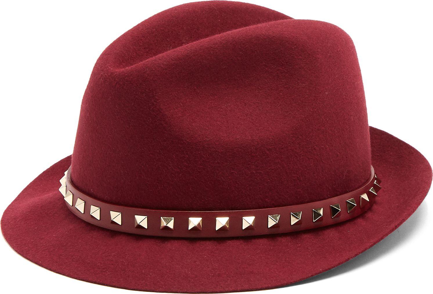 Valentino - Rockstud fur-felt hat