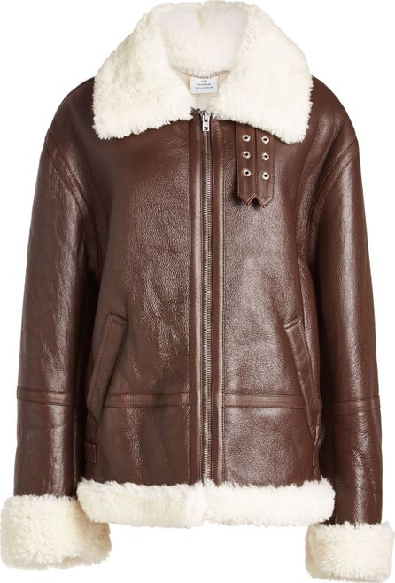 Vetements Leather and Shearling Jacket