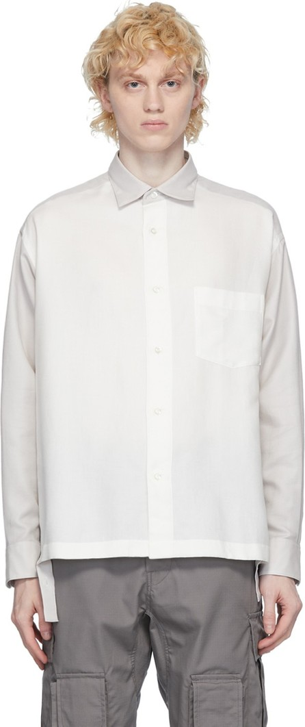 N.Hoolywood White Side Slit Shirt