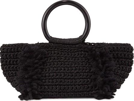 Carolina Santo Domingo Corallina Wool Ring-Handle Tote Bag