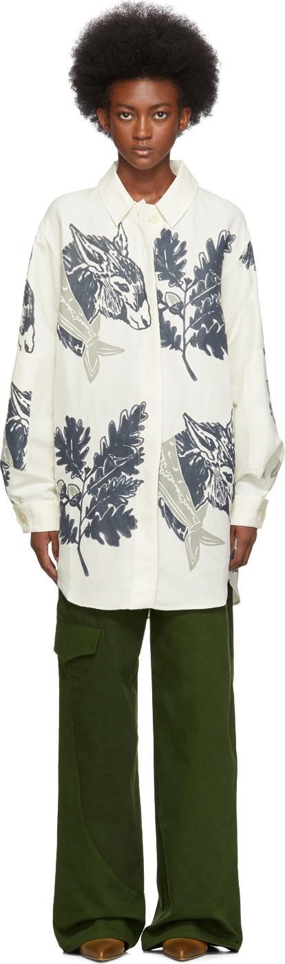 Jacquemus Blue & White 'La Chemise Loya' Shirt
