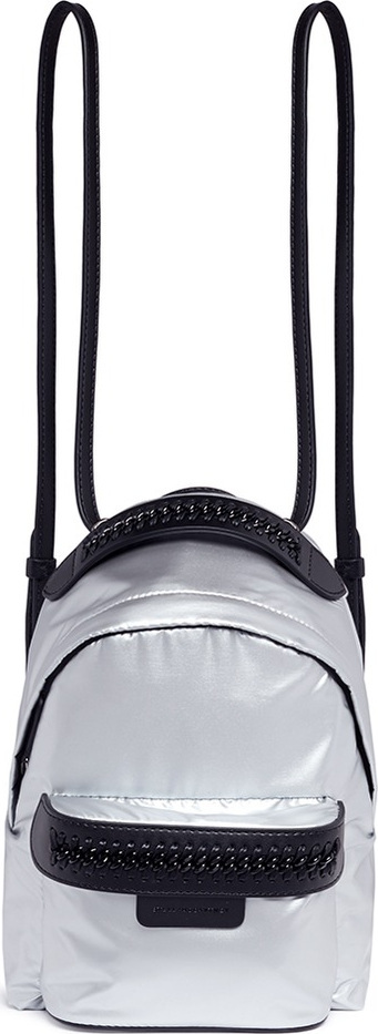 Stella McCartney 'Falabella Go' mini shaggy deer backpack
