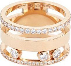 Messika 'Move Romane' diamond 18k rose gold two three ring
