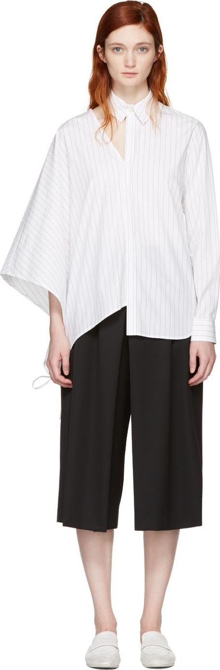 FACETASM White Pinstripe Asymmetry Shirt