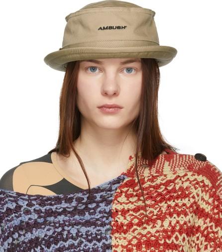 Ambush Beige Waves Bucket Hat
