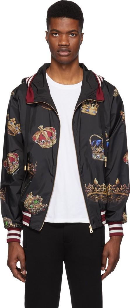 Dolce & Gabbana Black Hooded Crown Jacket