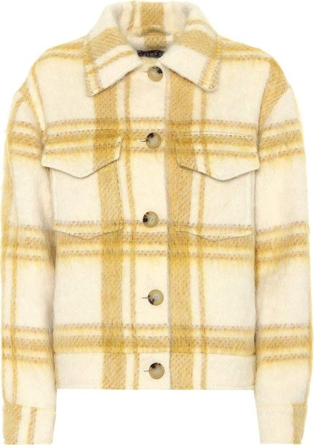 Alexachung Checked wool-blend jacket