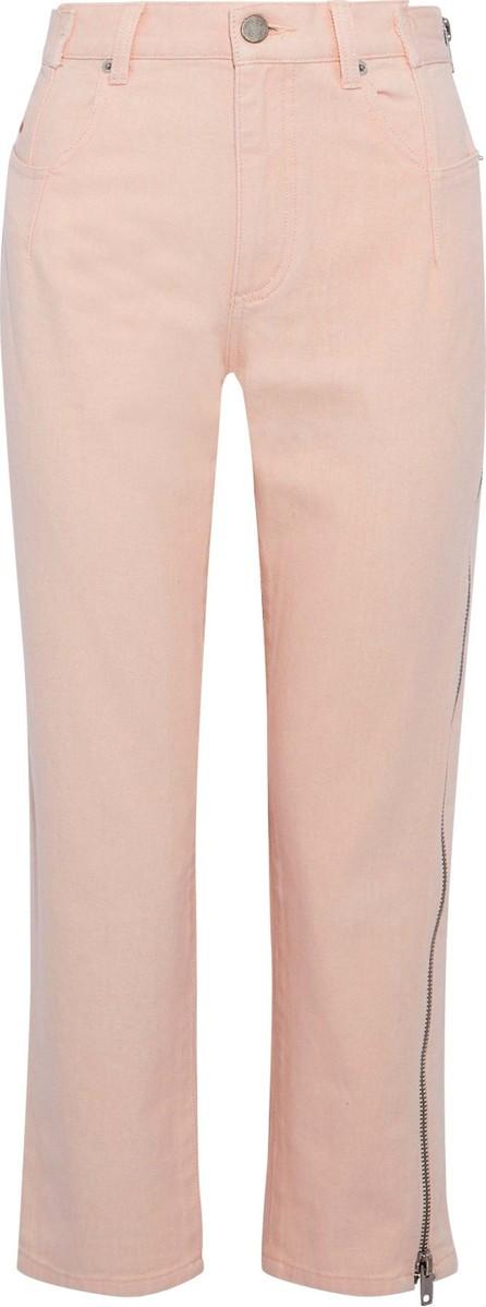 3.1 Phillip Lim Zip-detailed high-rise straight-leg jeans