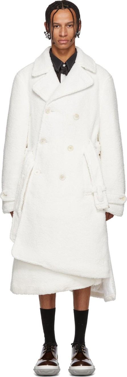 Comme Des Garçons Homme Plus White Boa Plushy Coat