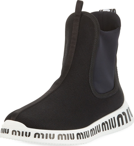 Miu Miu Stretch High-Top Sneakers