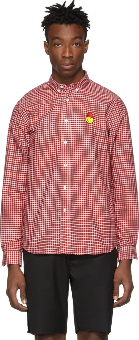 AMI Red & White Smiley Edition Oxford Shirt