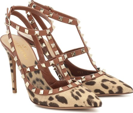 Valentino Valentino Garavani Rockstud leopard-print pumps