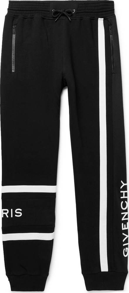 Givenchy Tapered Logo-Embroidered Loopback Cotton-Jersey Sweatpants