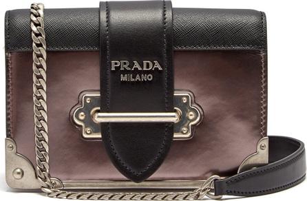 Prada Cahier bi-colour leather cross-body bag