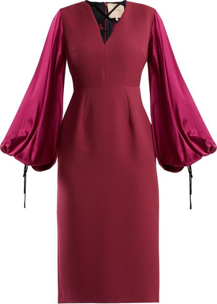 Roksanda Darya blouson-sleeve crepe dress