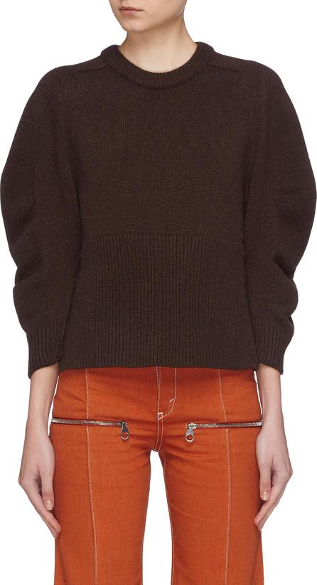 Chloe Puff sleeve cashmere sweater