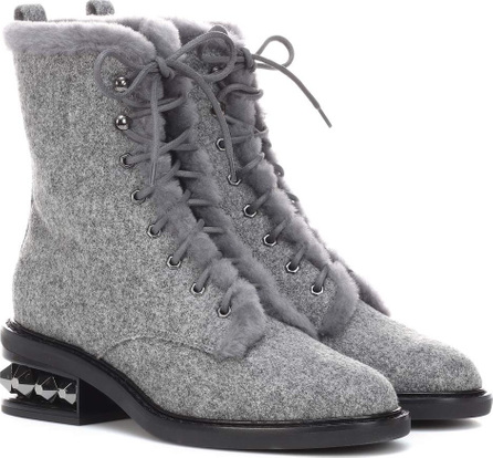 Nicholas Kirkwood Suzi shearling-lined ankle boots