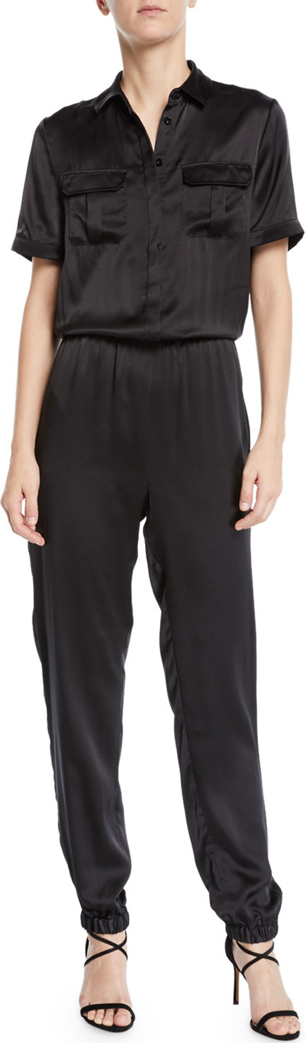 CAMI NYC The Maddi Silk Charmeuse Button-Down Jumpsuit